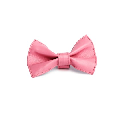 PINK LEATHER BOWTIE