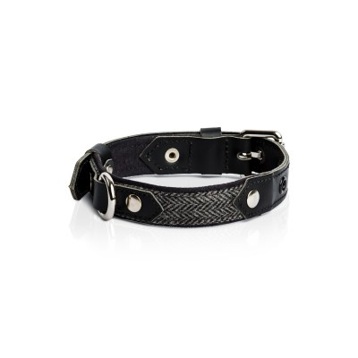 herringbone-black-leather-dog-collar2